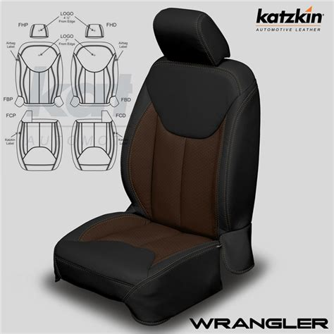 Jeep Seat Upholstery Kits by Jeep Wrangler Katzkin Leather Seat Upholstery Kit