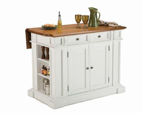 portable kitchen islands canada home styles îlot de cuisine blanc pur à abattant fini