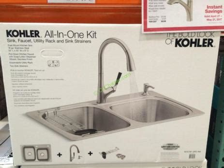 kitchen sink package kohler stainless steel sink and faucet package model 2809