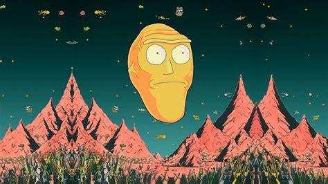 rick  morty wallpaper giant heads rick morty fond