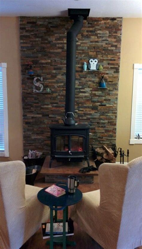 wood stove surround ideas  pinterest wood