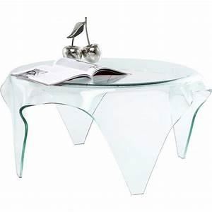 Table De Chevet Transparente : table basse transparente visible clear kare design kare design prix avis notation ~ Melissatoandfro.com Idées de Décoration