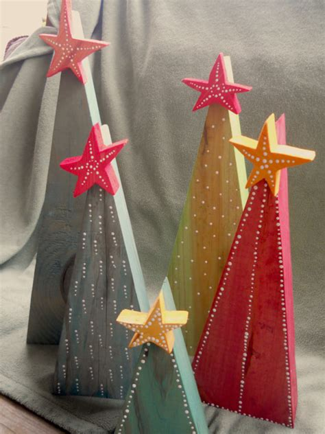 primitive rustic wooden christmas tree with star reclaimed