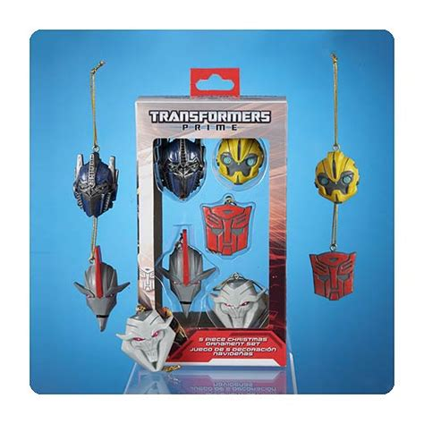 transformers prime christmas ornament 5 pack kurt s
