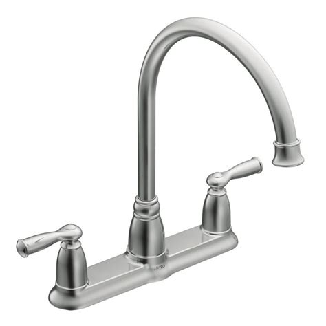 kitchen faucet finishes moen banbury 2 handle kitchen faucet chrome finish the
