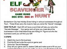 Find The Holiday Elf 1st Annual Scavenger Hunt East