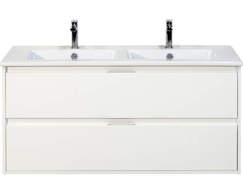 wastafelonderkast porto badmeubel porto wit hoogglans 120x50 cm inclusief 2 lades