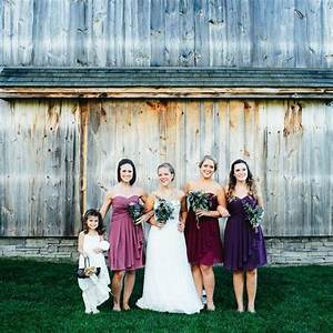mismatched purple bridesmaid dresses lisa woods With same sex wedding ideas