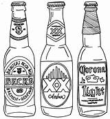 Beer Bottle Drawing Line Coloring Drawings Pages Alcohol Bottles Google Tattoo Tattoos Svg Printable Getdrawings Cool Drawn Projects Printables Print sketch template