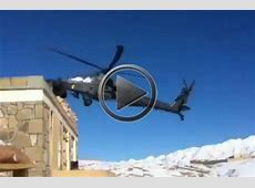 Apache Helicopter Crashes In The Mountains