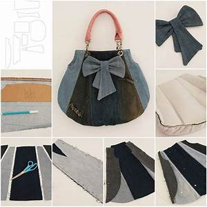 How to make Old Jeans Fashion Bag step by step DIY tutorial instructions thumb u2013 How To Instructions