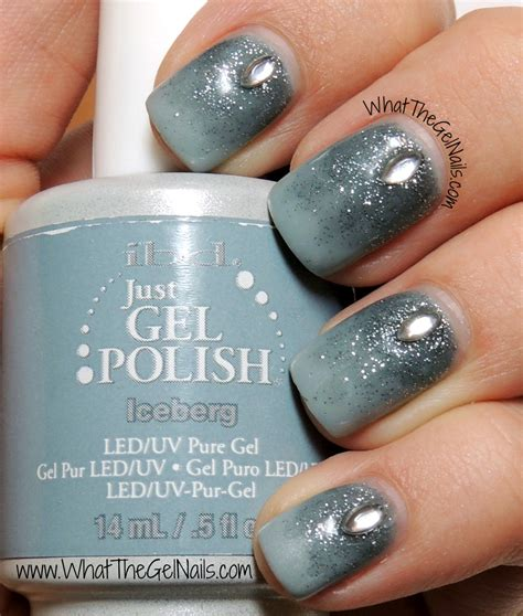 bling simple winter gel nail design with jewels