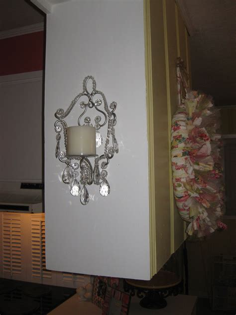 shabby chic crystal candle sconce emma s playhouse ideas