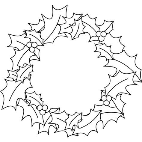 clipart natale da colorare disegno di corona natalizia da colorare per bambini