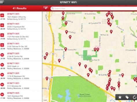 xfinity wifi map chicago