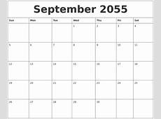 October 2055 My Calendar