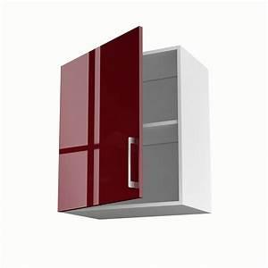Meuble Cuisine Haut : meuble de cuisine haut rouge 1 porte griotte x x cm leroy merlin ~ Teatrodelosmanantiales.com Idées de Décoration