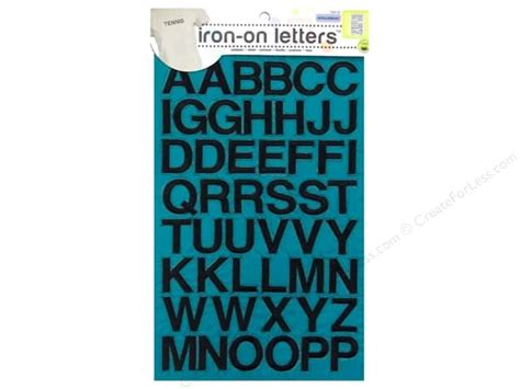 how to make iron on letters embroidered iron on letters by dritz black createforless