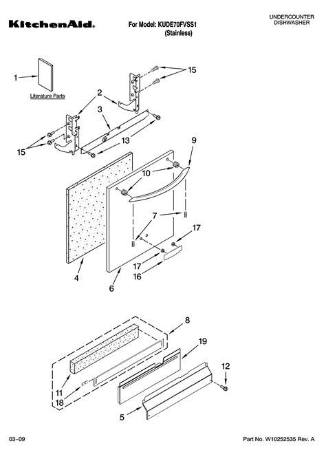 Kitchenaid Dishwasher Parts by Kitchenaid Dishwasher Parts Model Kude70fvss1 Sears