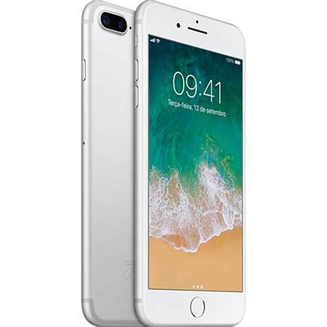 mp iphone 5 iphone 7 plus prata tela de 5 5 4g 32 gb e c 226 mera