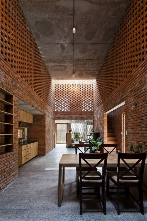 brick interior a creative brick house controls the interior climate and looks amazing