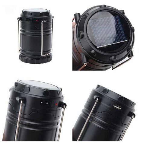 zhishunjia g 85 solar rechargeable 6 led lantern light black free shipping dealextreme