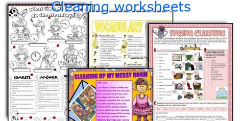 cleaning worksheets