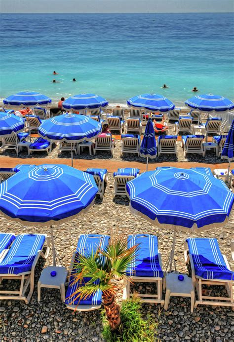 Beach At Nice France Photograph By Dave Mills