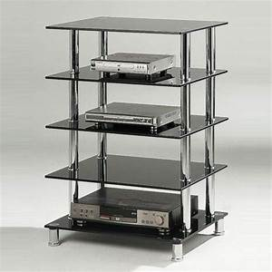 Hi Fi Rack : hudson 5 tier black glass hi fi rack stand 10338 ~ Frokenaadalensverden.com Haus und Dekorationen