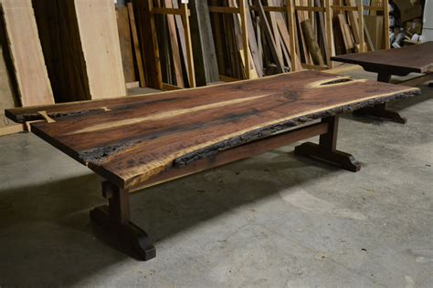 buy  hand   edge bookmatched walnut table