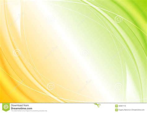 abstract green orange wavy template design stock vector