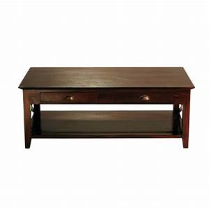 table basse en mahogany massif l 120 cm acajou maisons With tables maisons du monde