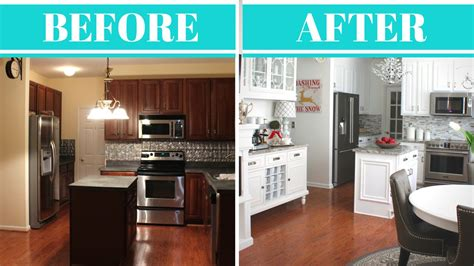kitchen makeover reveal    youtube