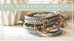 Makramee Kette Anleitung : diy armband makramee technik verschluss youtube ~ Watch28wear.com Haus und Dekorationen