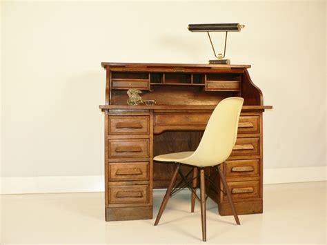 bureau style americain bureau americain en chene bureau a rouleau