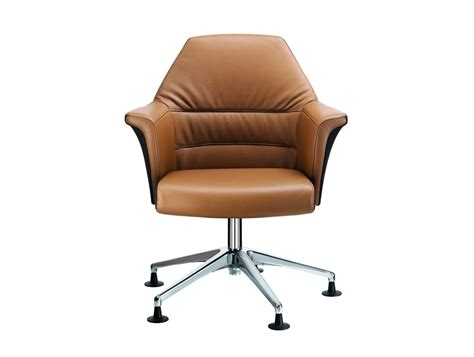 Stelvio Low Back Meeting Room Armchair In Tanned Leather