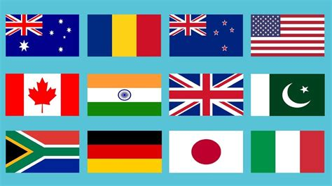 Flags Of All Countries Of The World With Names Music By