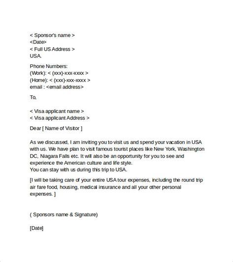 sample visa invitation letters  word sample templates
