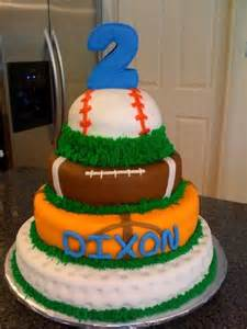 2nd Birthday Sports Cakes for Boys