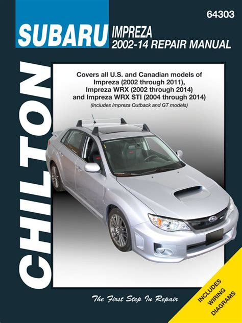 manual repair autos 1998 subaru impreza navigation system subaru impreza chilton repair manual 2002 2014 hay64303