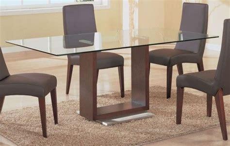 furniturerectangular clear glass top dining table