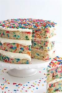 Naked Confetti Cake The BakerMama