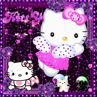 purple pink kitty picture  blingeecom