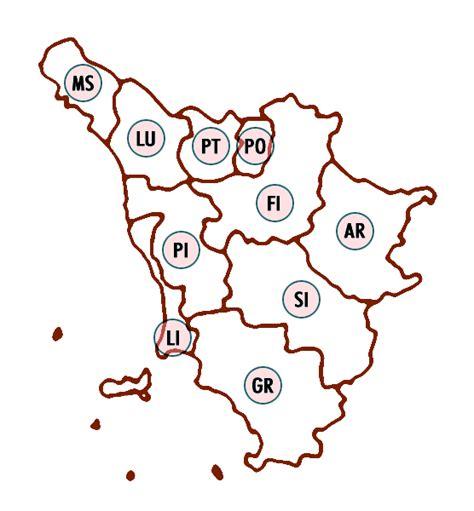 Credem Pisa by Filiali E Sportelli Bancari In Regione Toscana