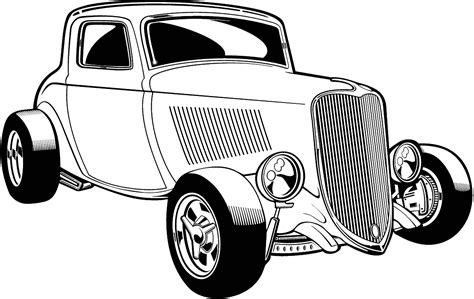 Car Black And White Classic Car Clipart Black And White