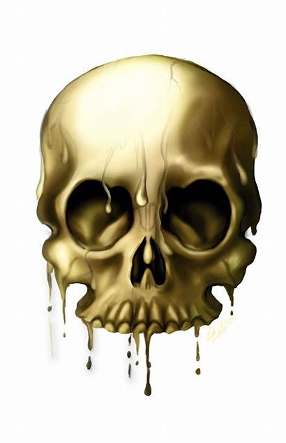 Skull Golden Skulls Transparent Designs Clipart Pngimg