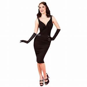 e82ab9cde0d miss candyfloss robe tenue de soiree femme noir a decollte style vintage  ebay