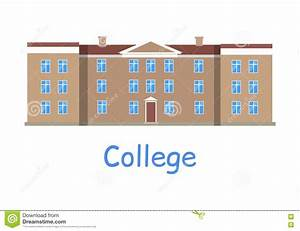 College Building Icon stock vector. Illustration of ...