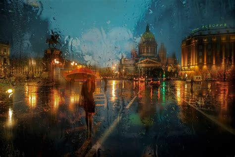 sky clouds lights woman splendor umbrella window