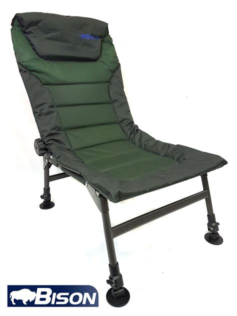 Fishing Chair Adjustable Legs And Back Recliner + Free